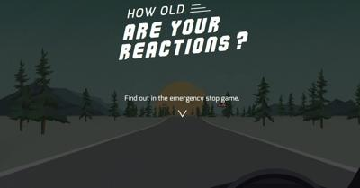 Test your reaction time with this fun driving game