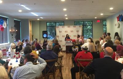 Karen Pence campaigns for Arrington in Charleston
