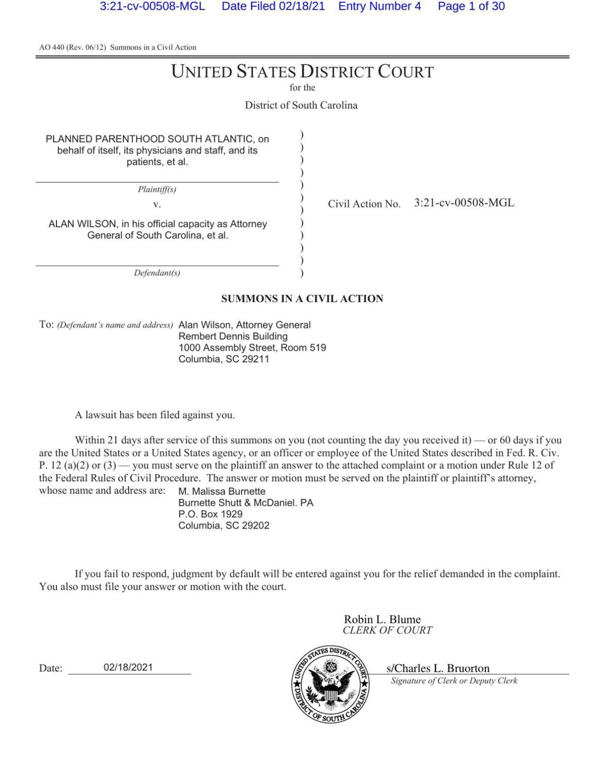 Full Planned Parenthood legal complaint