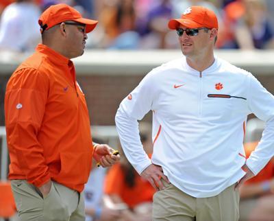 Clemson football assistant coaches Jeff Scott, Tony ...