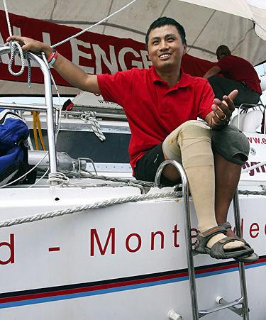 Sailing journey has healing goal