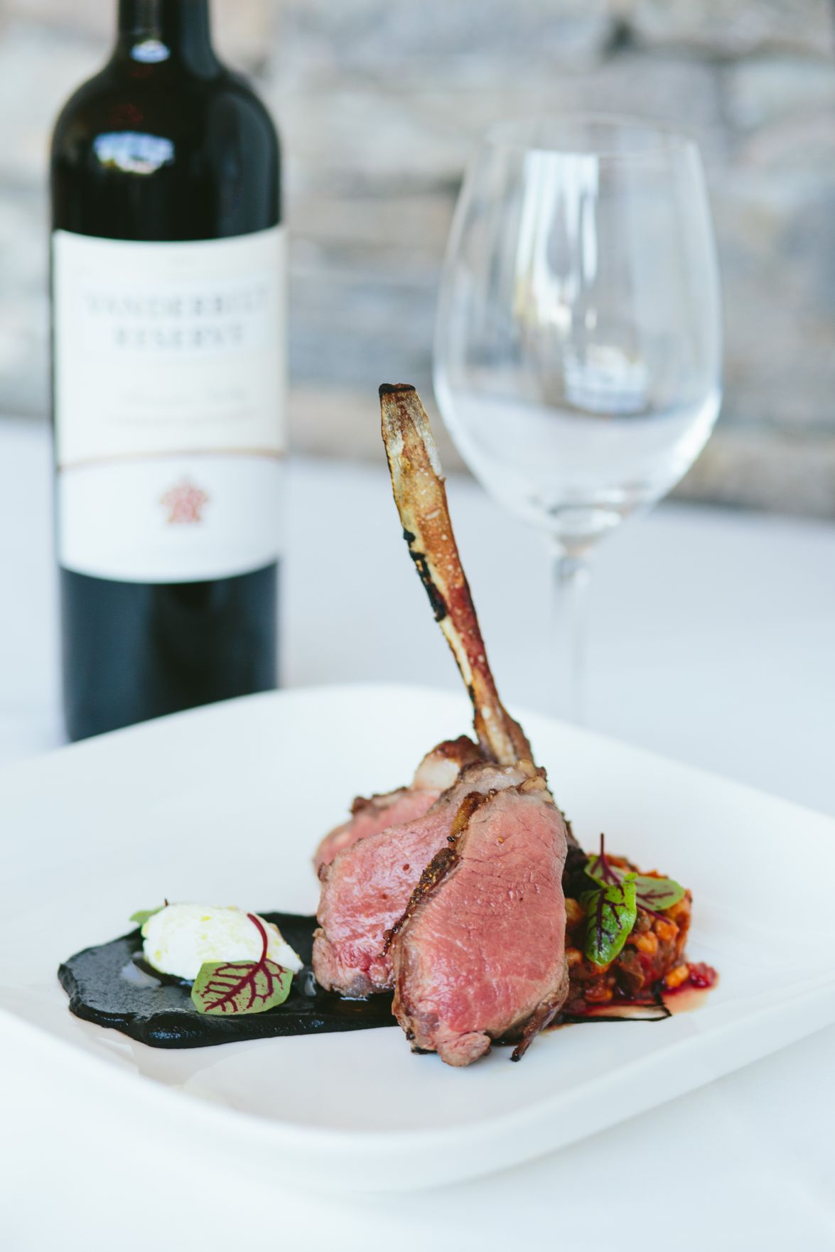 asheville restaurant salutes charleston grill with lamb chop