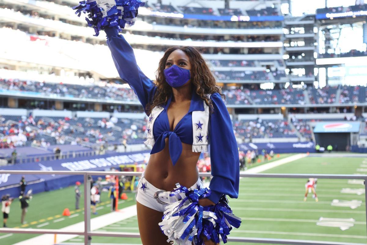 Dallas Cowboys Cheerleader Armani Latimer of Anderson, S.C., performs at AT&T Stadium