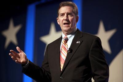 South Carolina Republican U.S. Sen. Jim DeMint is resigning his post (copy) (copy)