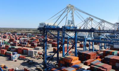 Container cargo at Port of Charleston