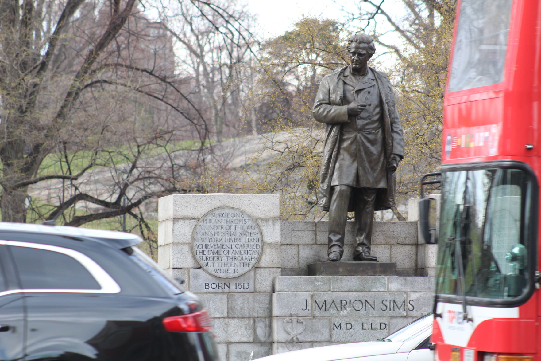 Statue of J. Marion Sims, notorious South Carolina doctor, moved out of Manhattan