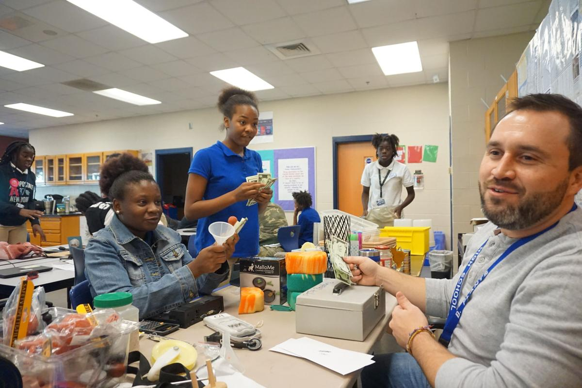 Burke High New Tech science class