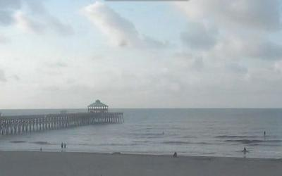 Mostly sunny, slight chance of rain today in Charleston