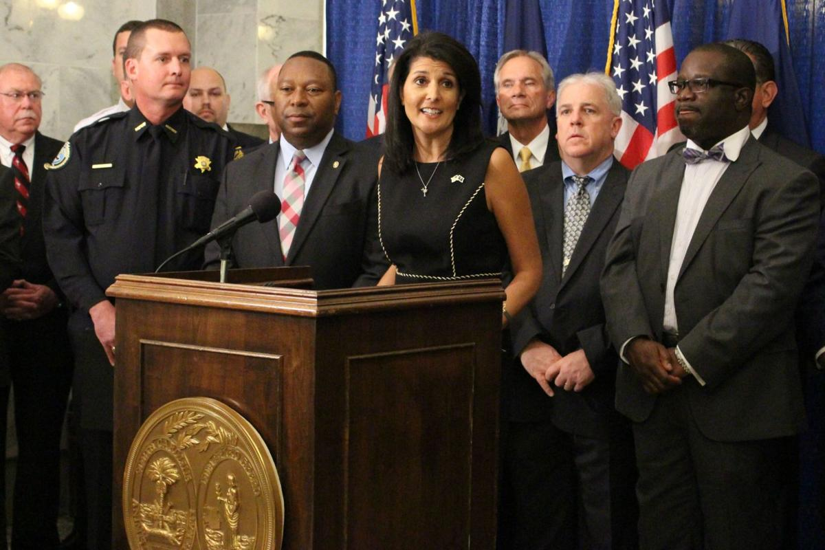 Haley confronts sheriff on pledge