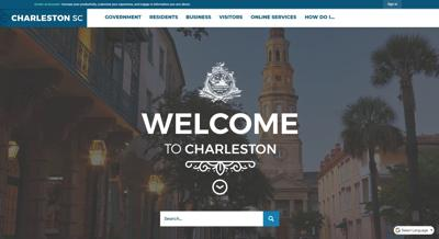 Charleston leaders rolled out a new website design Monday