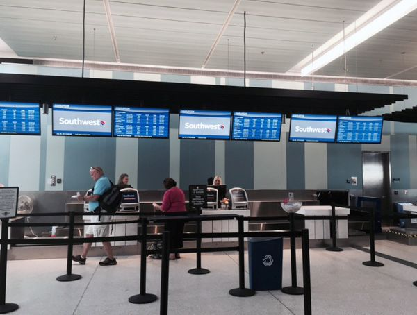 Southwest Airlines opens new ticket counter at airport