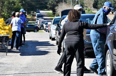 Longest food line yet in Summerville, as virus cases begin to climb