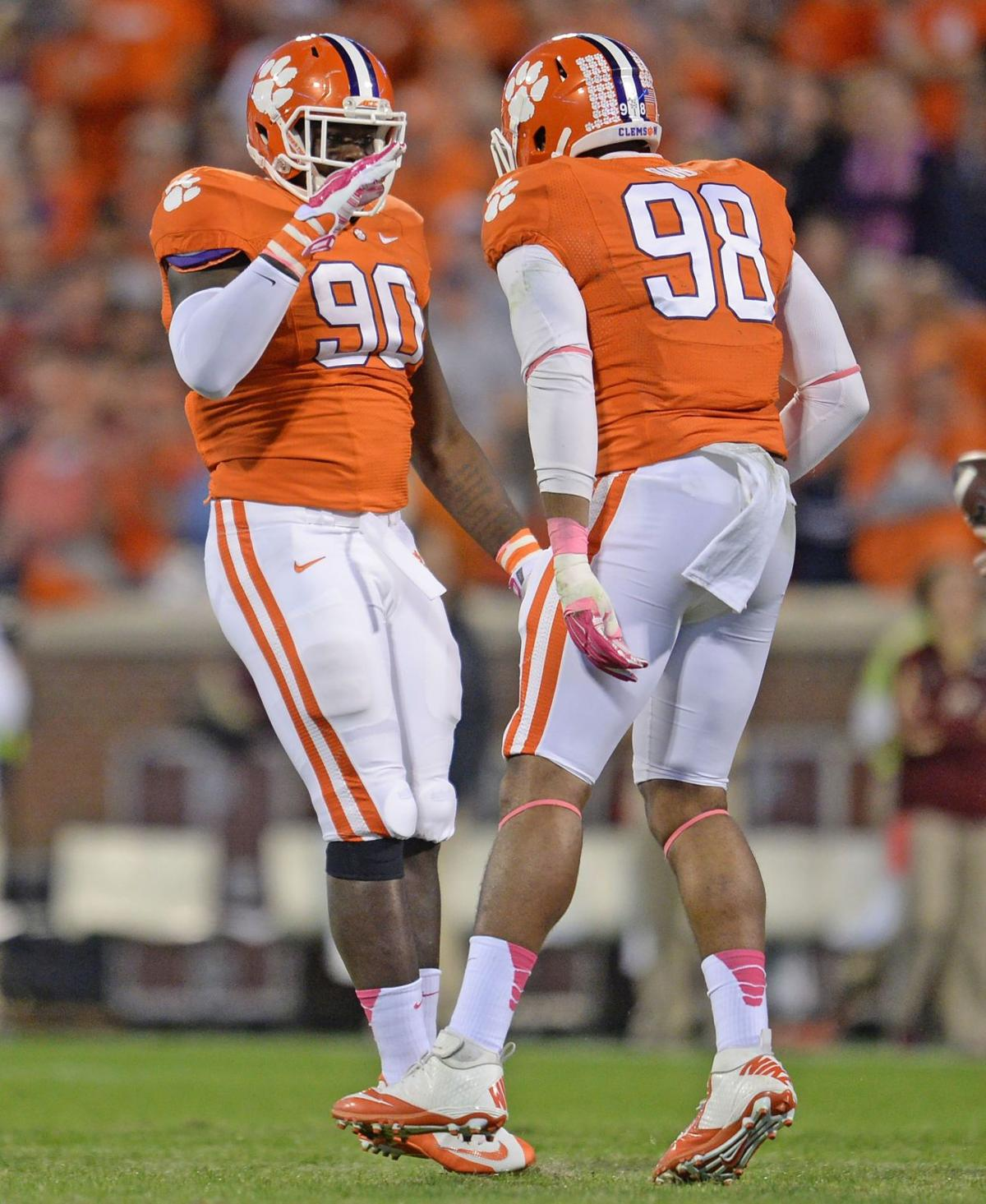 Clemson's Lawson, Dodd to battle for NFL draft position