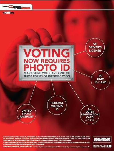 Officials say voter ID law working well in SC A county look at photo voter registration cards