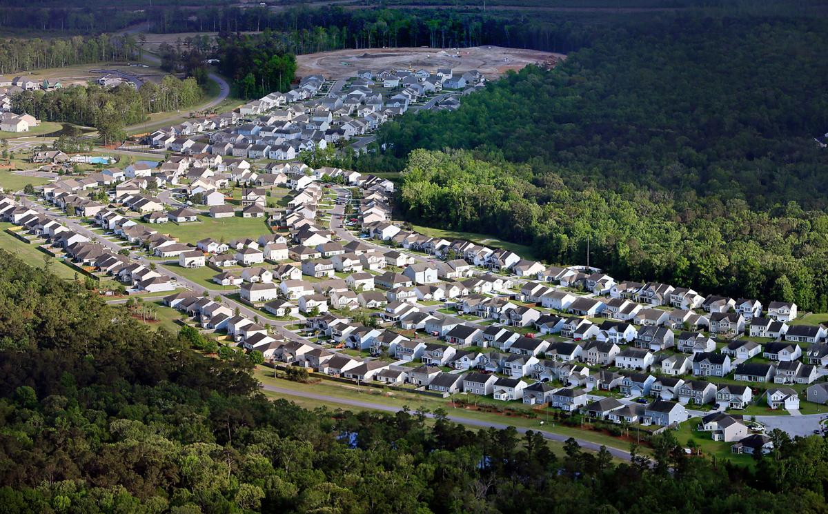 aerial housing growth Goose Creek (copy) (copy)