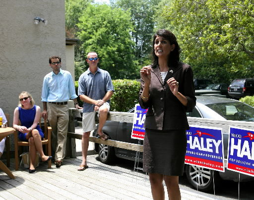 On campaign trail, Haley stops by Moe's