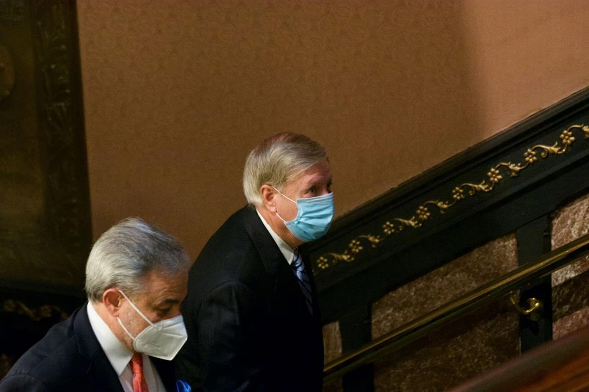 Lindsey Graham, Dan Brouillette, Statehouse Stairs
