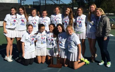 Bishop England girls claim fifth straight state tennis title