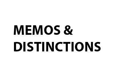 Memos & distinctions Memos and distinctions