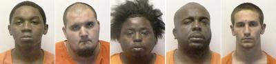 Five face drug charges after shooting