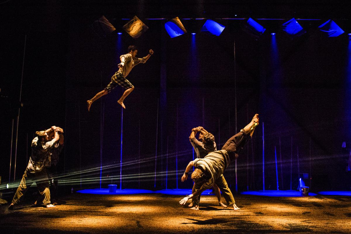 Review Physical Theater Troupe Gravity Other Myths Shows Backbone