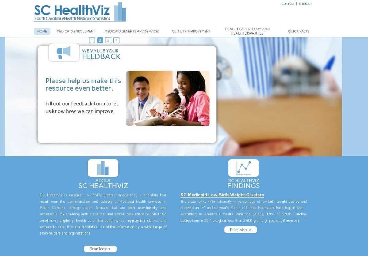 S.C. Medicaid, USC publish data on new SC HealthViz website
