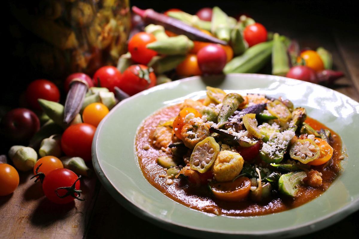 Cookbook: tomatoes and okra from The Grocery