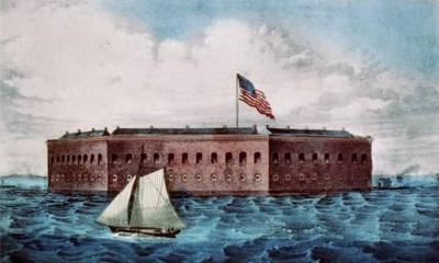 Building Fort Sumter was a long process