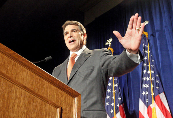Texas Gov. Rick Perry enters the fray