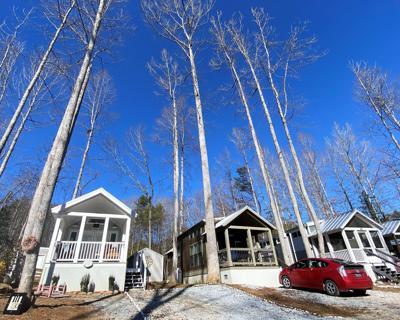 Tiny homes in Travelers Rest's Creek Walk community