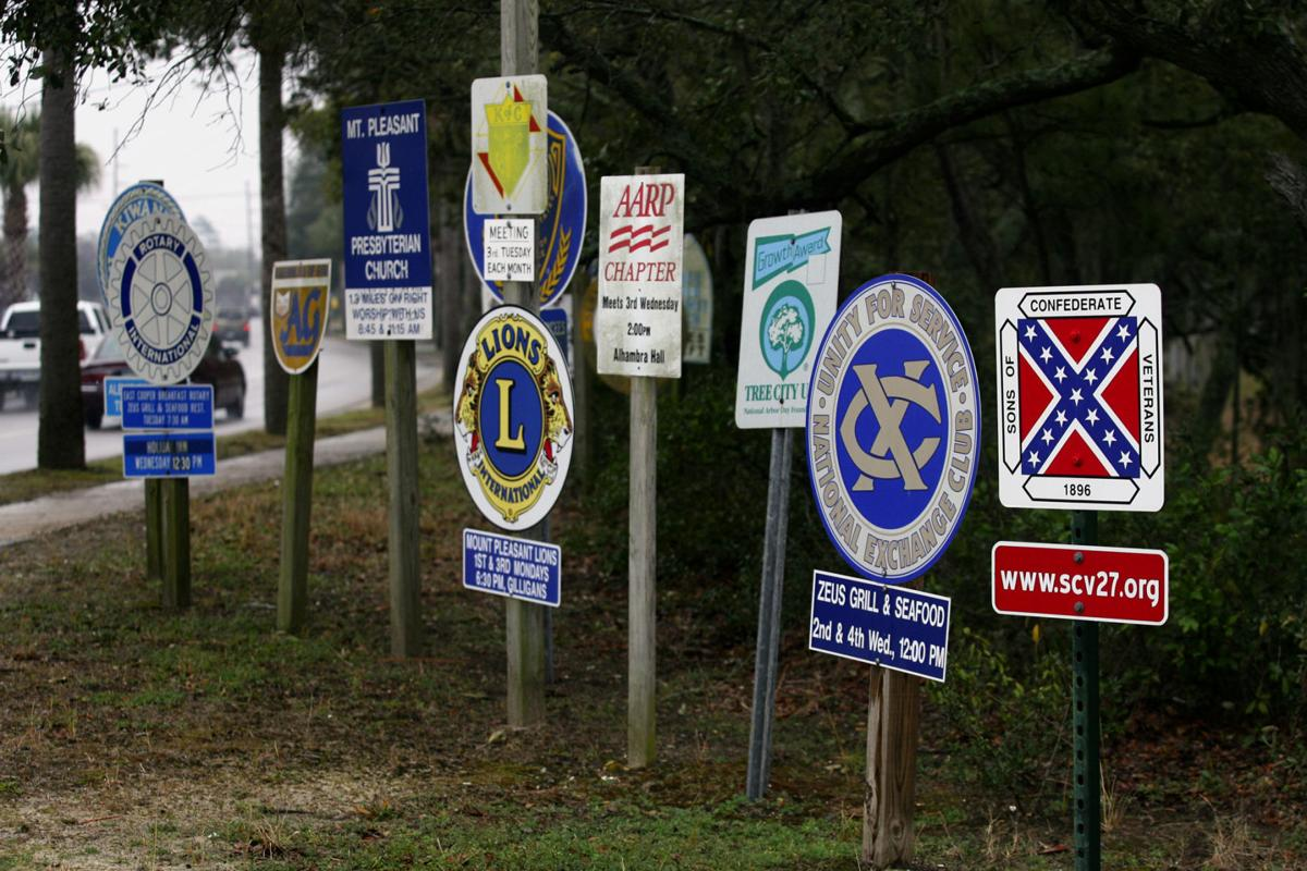 Confederate Sons: 'More the merrier' There's room on Goose Creek's sign for all