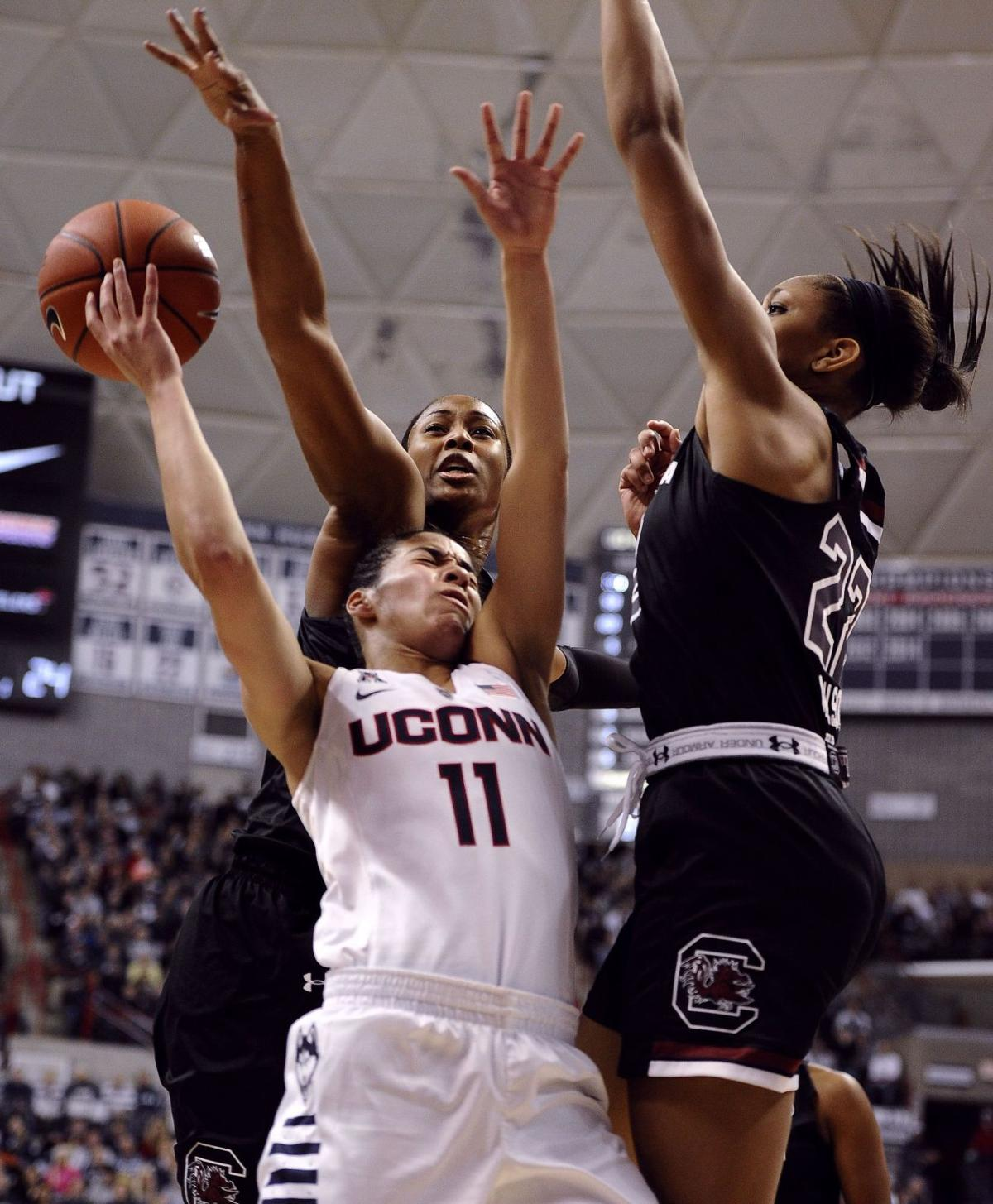 No. 2 UConn deals top-ranked Gamecocks first loss of season