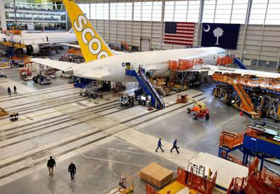 Boeing S C  reaches cruising altitude with 787-9, new plants