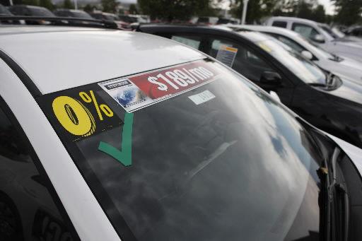 Auto loan rates falling