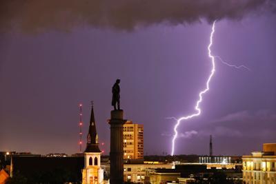 PRINT ONLY Calhoun lightning