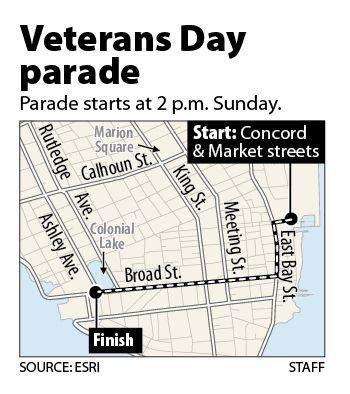 Charleston's Veterans Day Parade is Sunday