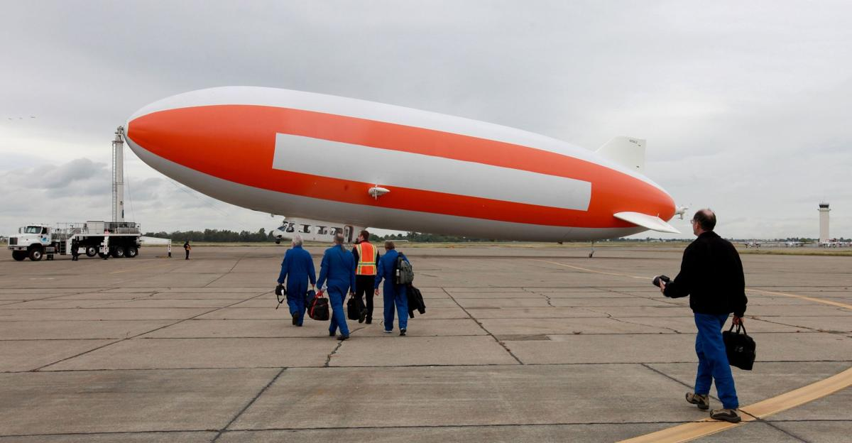 Scientists use blimp to look for meteorites