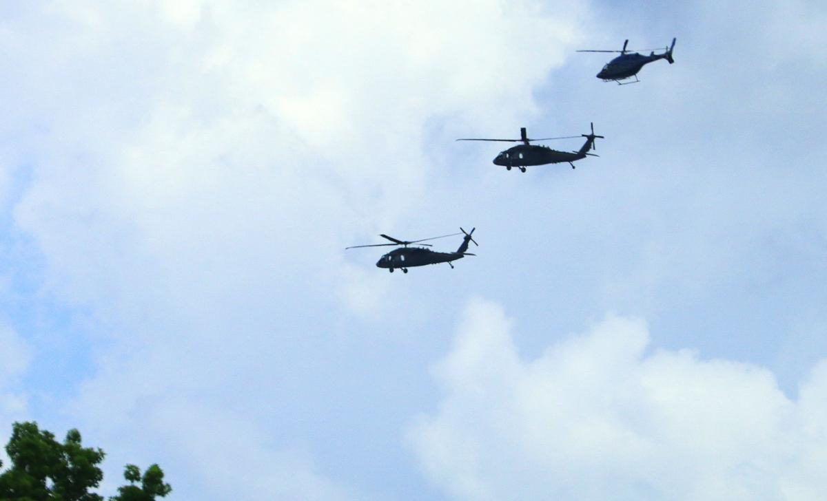 FBI helicopters
