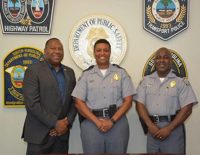 Leroy Smith, Capt. Shawna Gadsden and Col. Chris Williamson