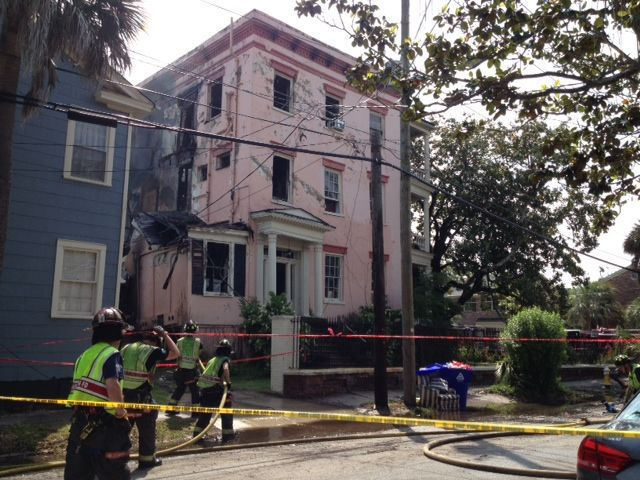 12 displaced, one person burned in downtown Charleston fire