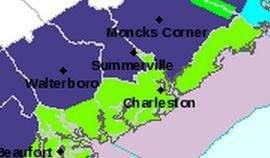 Cool today in Charleston, freeze warning tonight farther inland