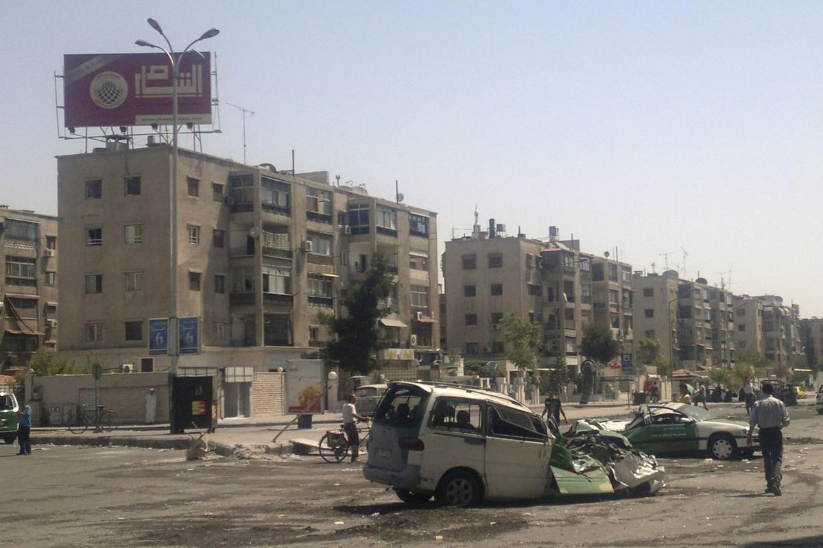 Syrian rebel forces attack country's 2 largest cities