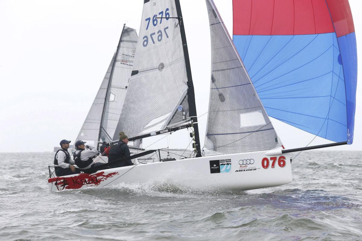 Charleston Race Week gets off to blustery start