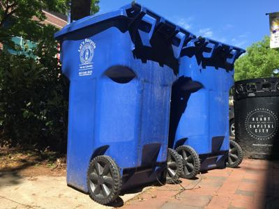 City of Columbia recycling bins