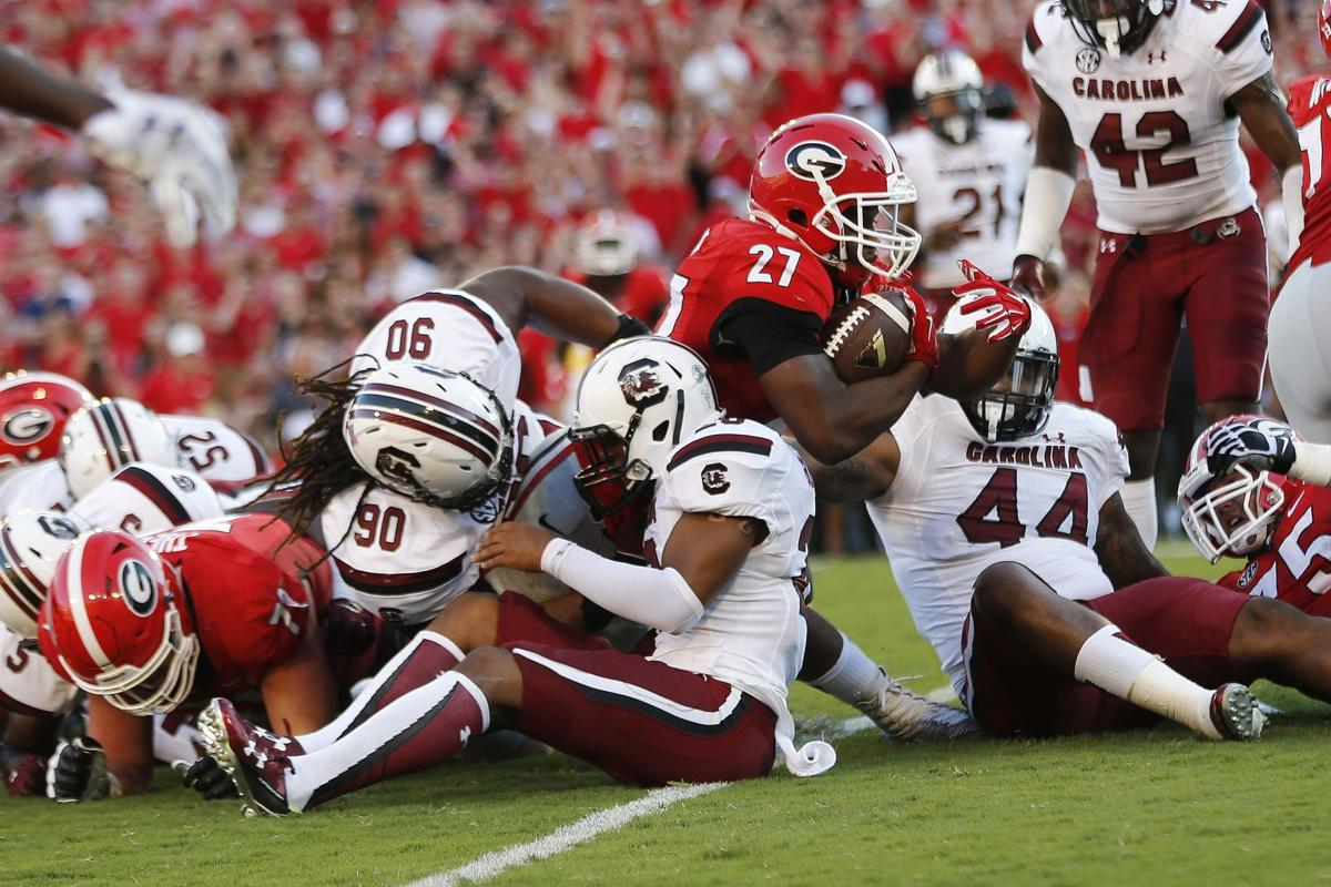 Too much Georgia: Gamecocks no match for seventh-ranked Bulldogs