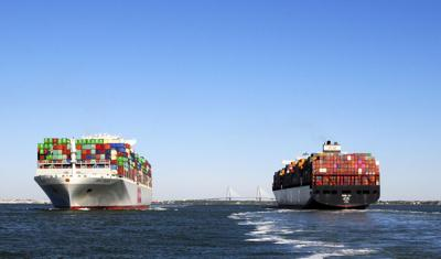 Port of Charleston container ships