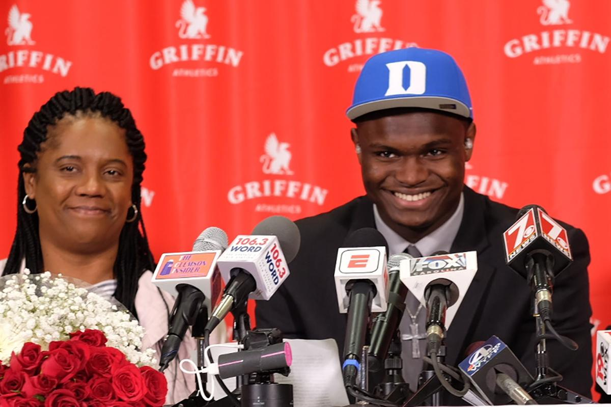 Image result for zion williamson duke commit