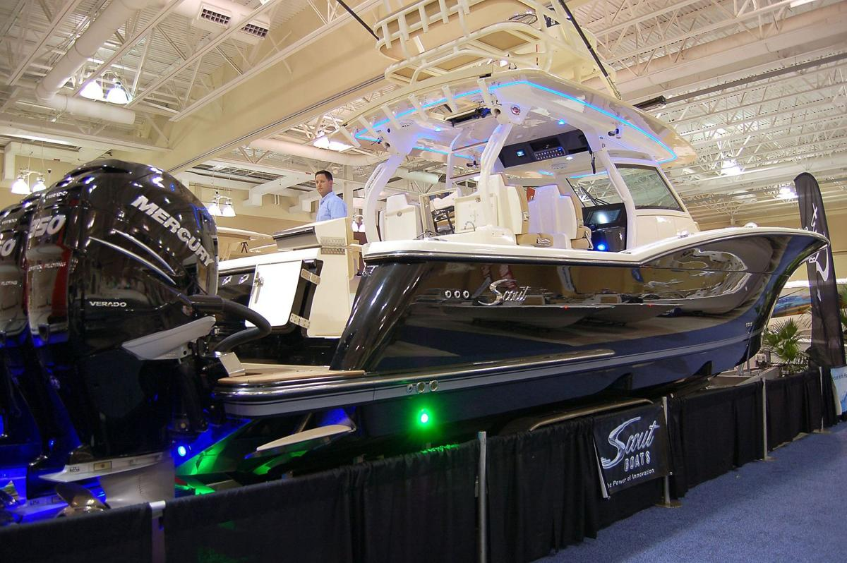Local manufacturer unveils sleek additions to 42-foot craft at boat show