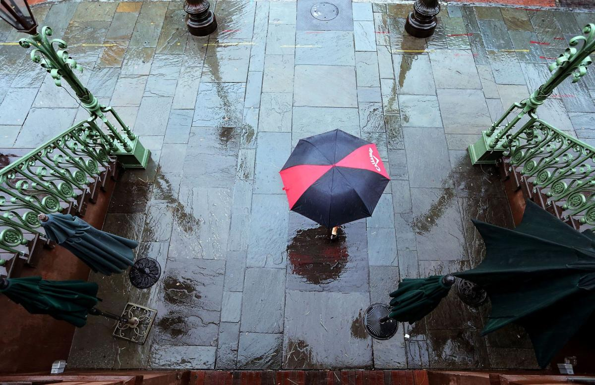 A day for umbrellas