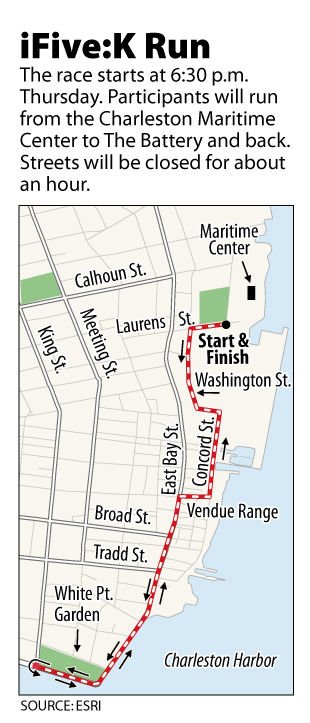 iFive:K run route to be blocked off